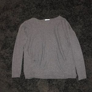 grey breathable sweater